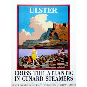 Ireland Co Antrim - Giant's Causeway Cunard Steamers