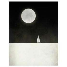 Sailboat And Moon