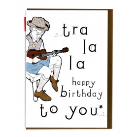 Card Tra la la Happy Birthday