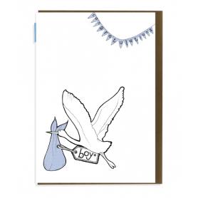 Card Boy Stork