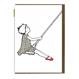Card Girl on a Swing
