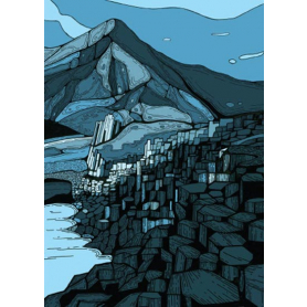 Giant's Causeway In Blue