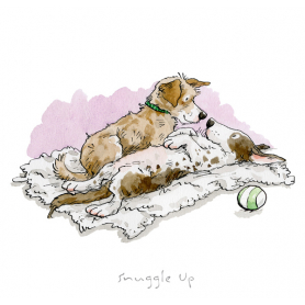 Print - A Dog's Life Snuggle Up