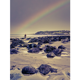 Rainbow Over The Rocks, Drains Bay