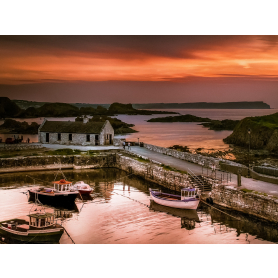 Sunset Over Ballintoy