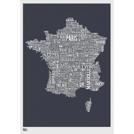 Map - France in Slate
