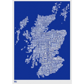 Map - Scotland in Blue