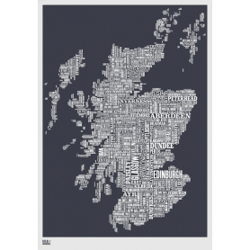 Map - Scotland in Slate