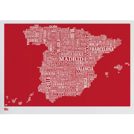 Map - Spain in Red