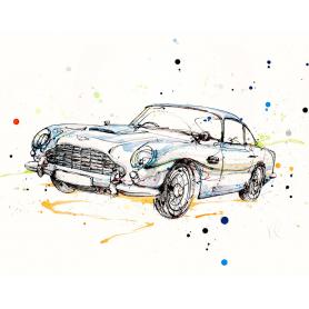 Print Ltd Edition - Cars Series - DB5 Aston Martin