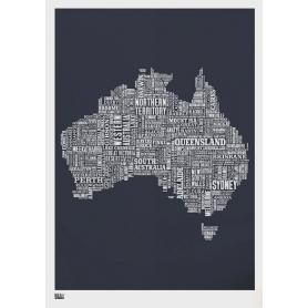 Map - Australia in Slate