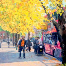 Original - Autumn Buses Queens Street