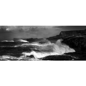 Co Antrim - Ballintoy Storm In Black and White - Ltd Edition