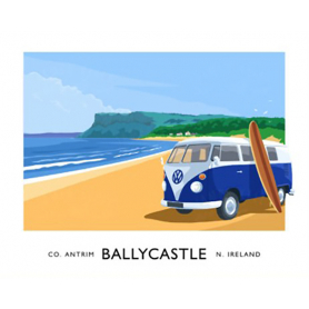 Co Antrim - Ballycastle Beach With Camper Van
