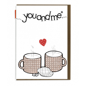 Card You and Me Teacups