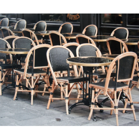 Paris In Black Chairs