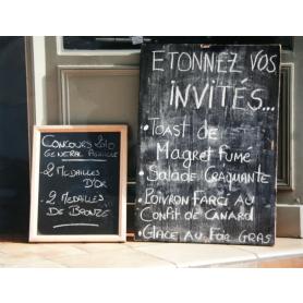 Paris In Black Menu Board II