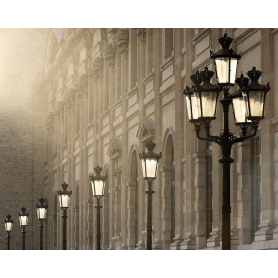 Paris In Black Street Lamps