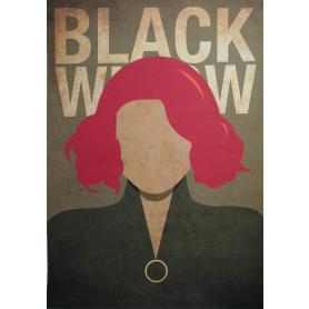 Superheroes Black Widow Vintage