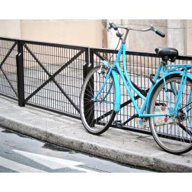 Paris In Blue Bicycle