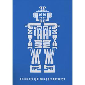 Pattern - Alphabot in Blue