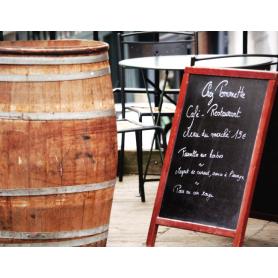 Paris In Brown Menu And Barrel