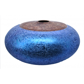 Burr Elm & Sycamore Hollow Form Bowl With Iridescent Paint
