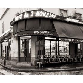 Paris Black And White Cafe Des Deux Moulins