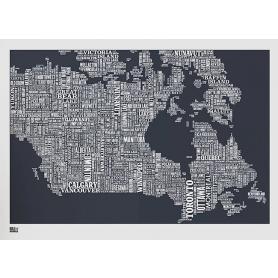 Map - Canada in Slate