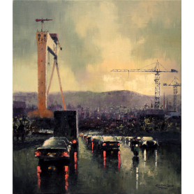 Print - Cars And Cranes