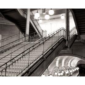 Paris Black And White City Metro Staircase