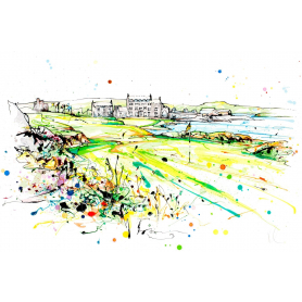 Print Open Edition Golf - Clubhouse at Ardglass