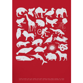 Nature - Creatures A-Z in Red