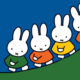 Miffy Walking Up A Hill