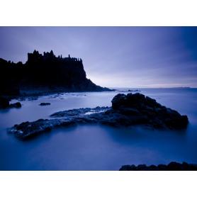 Co Antrim - Dunluce Castle In Blue