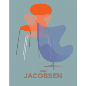 Jacobsen Egg Chair Blue and Orange