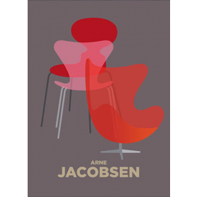 Jacobsen Egg Chair Red and Orange