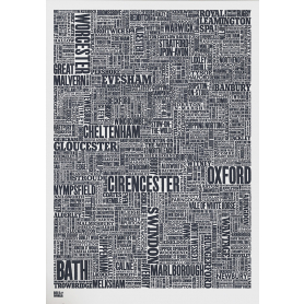 Map - England Cotswolds and Beyond in Slate