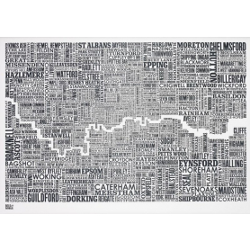 Map - England London and Beyond in Slate