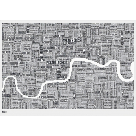 Map - England London in Slate