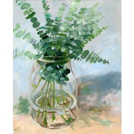 Eucalyptus In Glass Vase