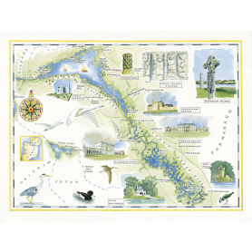 Map Fermanagh Lakes