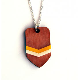 Necklace Chevron Yellow and Peach
