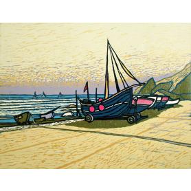 Linocut Print - Co Down Fishing Boat