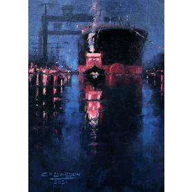 Original - Floating Out At Harland And Wolff