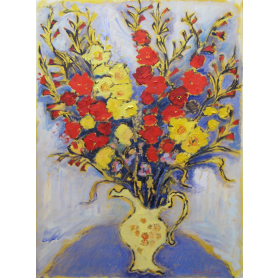 Print - Gladioli In Lemon Jug