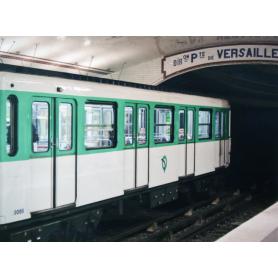 Paris In Green Metro Train