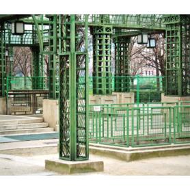 Paris In Green Railings