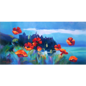 Dunluce With Poppies