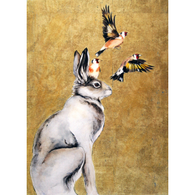 The Lost Words - Hare and Goldfinches
